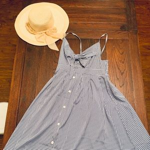Checkered summer dress